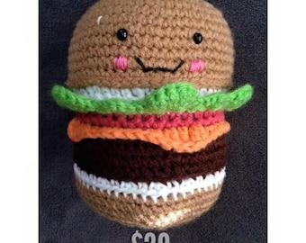 Cheeseburger Amigurumi