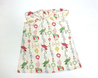 a little birdy told me christmas angelwing tunic dress with buttons down the back