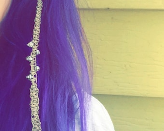 Handmade Hemp Hair Accessory