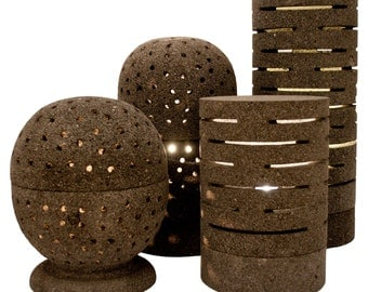 The Wallbrook Collection of Natural Lava Rock Table Lamps