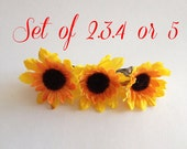 Sunflower Barrette wedding hair accessories Flowergirl hair accessory hair Pin Flower Barrette Sunflowers