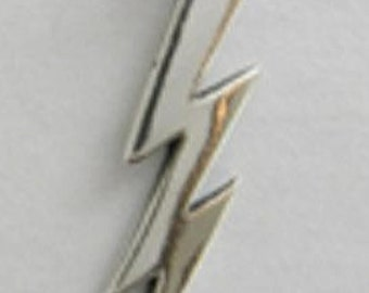 Lightning Bolt Cloud Pendant Charm Sterling Silver Small Large FREE SHIPPING