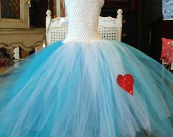 Alice in Wonderland Tulle Tutu Dress