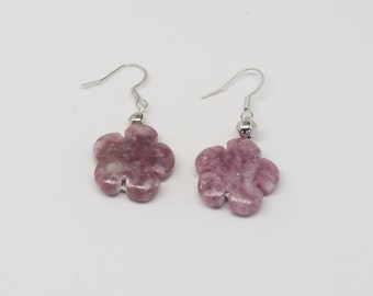 Strawberry Quartz Earrings - Reiki Infused