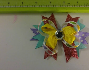 Jellybean Easter bow