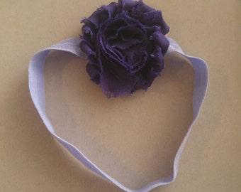 Purple baby girl flower headband.