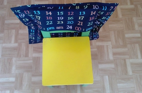 Student's Chair Bag / caddy- black with numbers