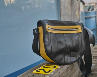 Shoulder Bag-Reclaimed Fire Hose-Repurposed Bike Tubes