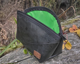 Upcycled truck tube cosmetic bag
