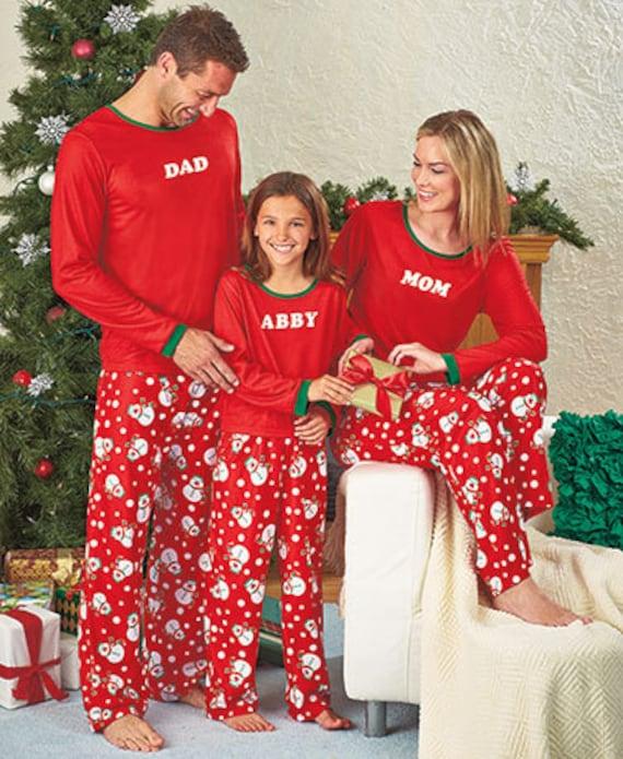 Personalized Christmas Pajamas Kids.Personalized Monogrammed Pajamas