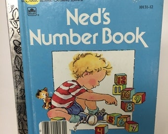 Vintage First Little Golden Book, Ned's Number Book