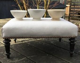 Set of 3 vintage French footage cafe au lait  bowls
