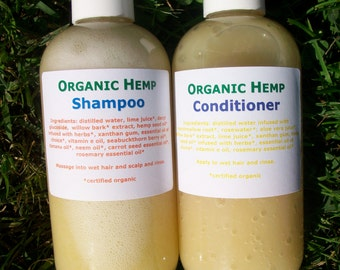 Organic Hemp Shampoo and Conditioner