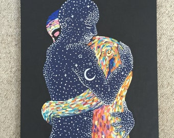 Two lovers canvas painting