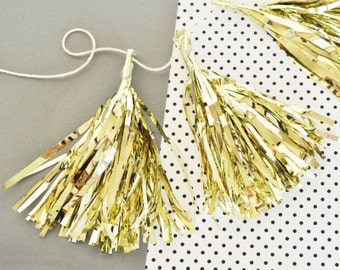 Bachelorette Party Decorations | Mini Tassels | Gold Tassel Garland | Decorative Tassels | Engagement Party Decorations  | Bridal Shower