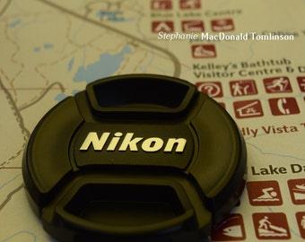 Fine Art Photograph Nikon Logo Camping Map Photo