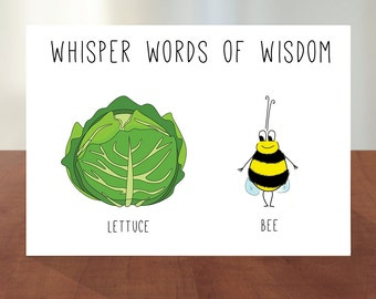 """Words of Wisdom: """"Let It Be"""" Lettuce DIGITAL / PRINTABLE Card"""