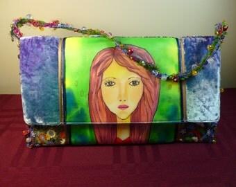 Painted OOAK Art Handbag