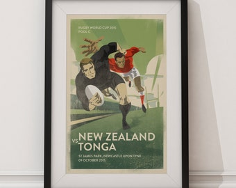 Rugby World Cup - Custom Poster - Any Fixture.