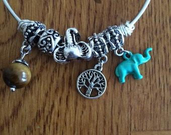 Nchi Roho Elephant/Tree of Life Charm Bracelet