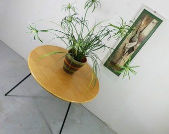 graceful 50s coffee table oak bamboo metal of ponti magg eames era