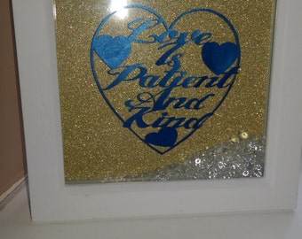 Love is patient and Kind Paper cut  framed