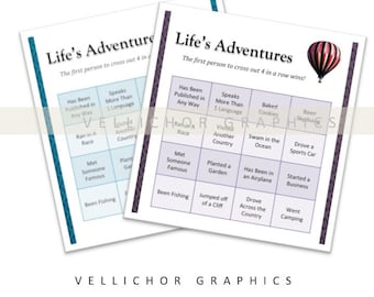 Life's Adventures Printable Party Game - Digital Download - Printable Graduation Game