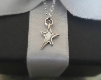 STERLING SILVER STAR Necklace - Whimsical - Handcrafted - Artisan Jewellery