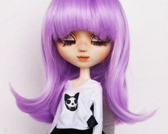 "Wig  9.5"" for Pullip and similar size doll. Purple"