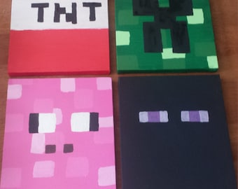 Minecraft Canvas Art