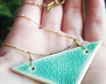 Ceramic Triangle Necklace