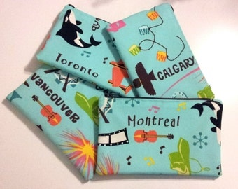 Canadian Cities Pouch