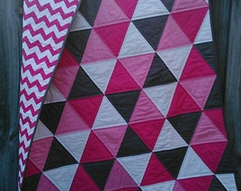 IN STOCK - Modern Triangle Baby/Toddler Quilt