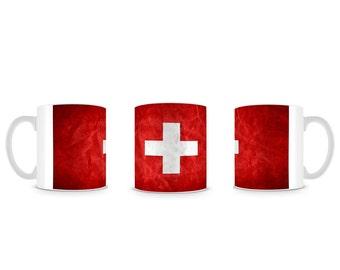 Swiss Flag Switzerland Schweiz Flagga Mug M011
