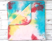 Rainbow Baby Blanket, Cot...