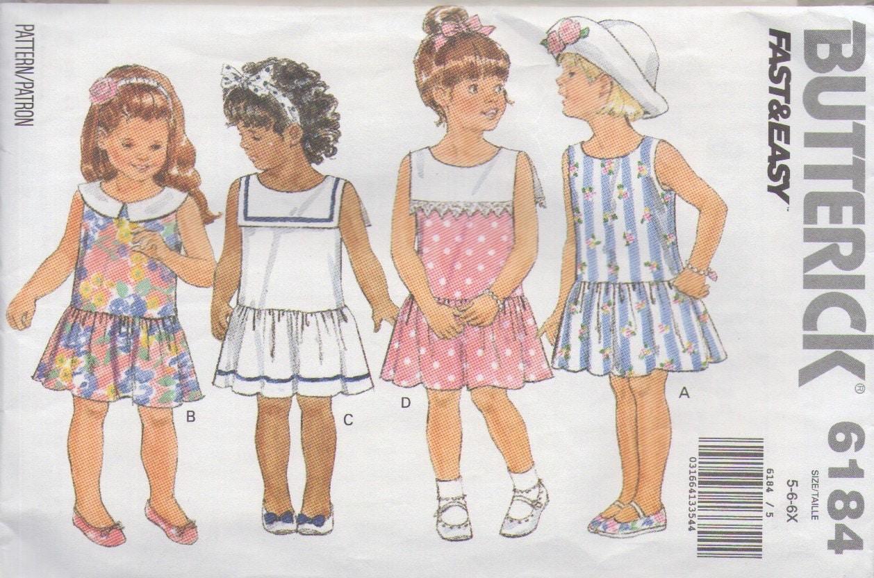 Little girls sailor summer school dress sewing pattern butterick little girls sailor summer school dress sewing pattern butterick 6184 jeuxipadfo Images