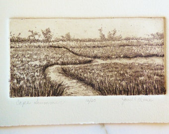 Landscape Etching with Aquatint