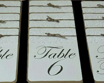 Rustic Wedding Table Numbers / Names