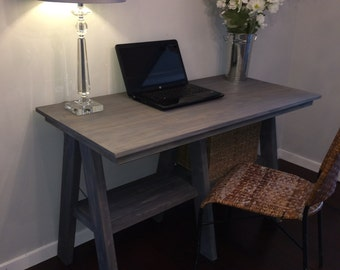 Rustic Gray Desk