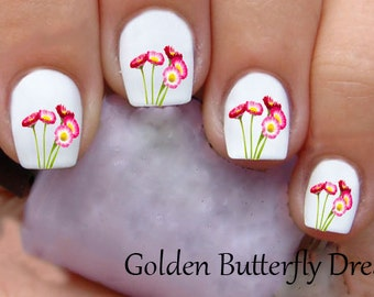 1075 Flowers Waterslide Nail Art Decals Enough For 2 Manicures