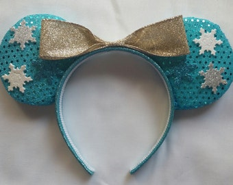 Queen Elsa Minnie Ears