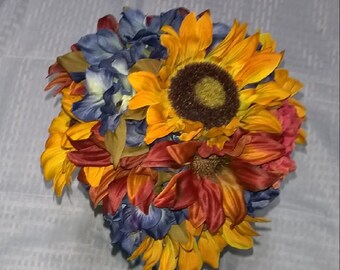 Petite Fall Bouquet with Sunflowers!