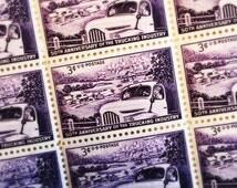 10 Trucking Industry Stamps - Unused Vintage US Postage - Purple, 3 Cent, 1953, Scott 1025 - Automobile, Transportation, Snail Mail Ephemera