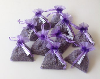 3 LAVENDER Bags, Dried Lavender Flower, Wedding Favors, Confetti