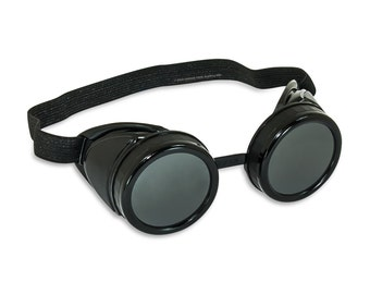 Steampunk Goggles - Base Goggles - Customizable DIY Steampunk Black Welding Cup Goggles - 50mm Eye Cup (Style B)