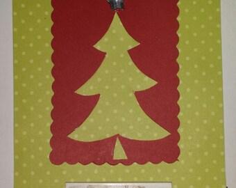 cute tree christmas card