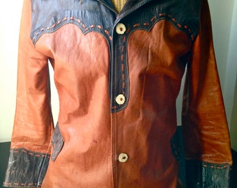 Men's Vintage Western Leather Jacket