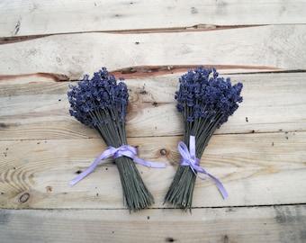 SET OF 2 SMALL Bridal bridesmaid bouquet Lavender bouquet lavender wildflowers wedding bouquet diers dried flowers wedding decor bridesmaid