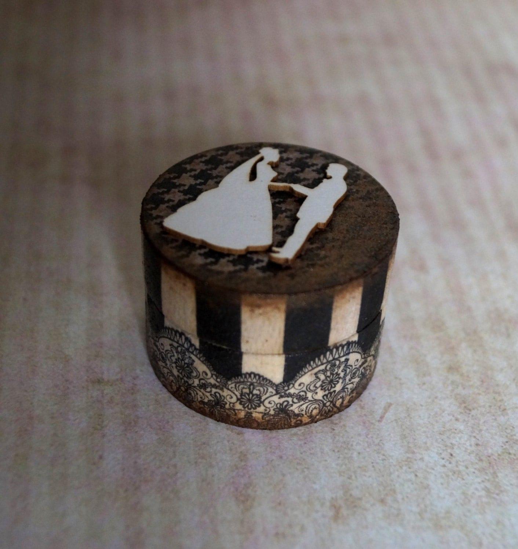Custom wedding box custom ring box personalized ring wooden for Custom made ring box