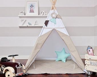 Teepee Tent - Scandinavian White